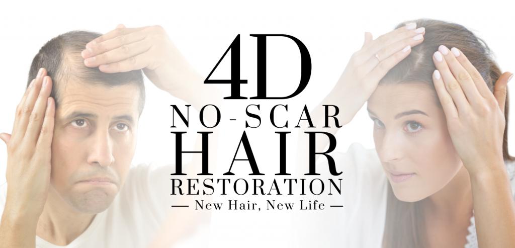 4D non-scar hair restoration