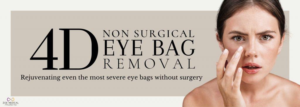 eyebag removal at Zoe Medical